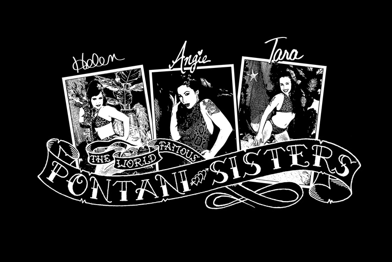 pin up designs. Pontani Sisters Pin-Up T-Shirt