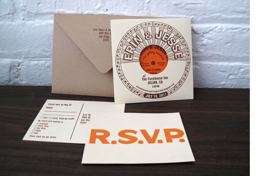 Record Sleeve Wedding Invites